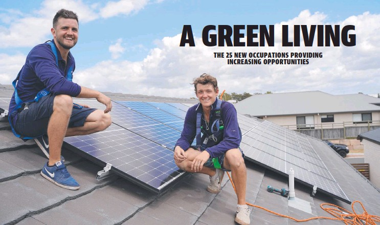 ??  ?? Instyle Solar lead electrician Mark Morphett installs solar panels on a home with co-worker Kohna Bottos.