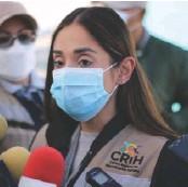 ??  ?? Yezka Garza, titular del CRIH anunció que en septiembre se hará otra extracción en Saltillo.