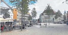 ?? ARCHIV-FOTO: SEMENESCU ?? Der neue Schwenninger Marktplatz, hier ein Foto vom August 2020, lockt die Menschen an.