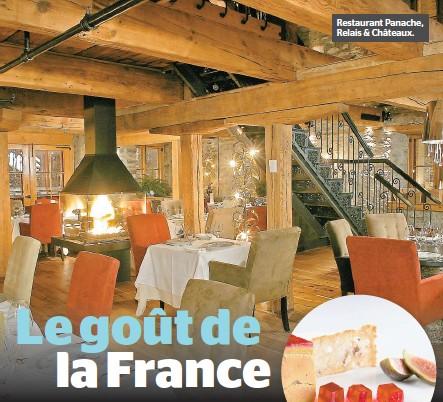 ??  ?? Restaurant Panache, Relais & Châteaux.