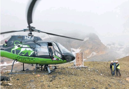 ??  ?? The Greenlea Rescue Helicopter performed 256 missions last year, many of them on the Tongariro Crossing.