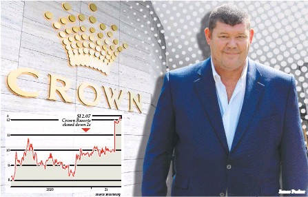 ?? James Packer ?? Crown Resorts' major shareholder James Packer has indicated he is open to a sale to private equity giant Blackstone