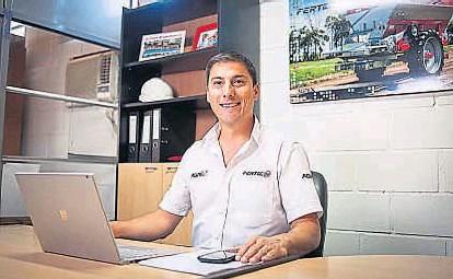 ??  ?? Dirigente. Desde la firma Fertec, Tron inició su actividad gremial-empresarial en Afamac en 2010.