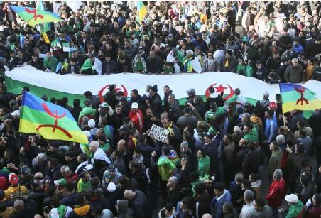 ??  ?? المسيرة الحاشدة في خراطة أمس