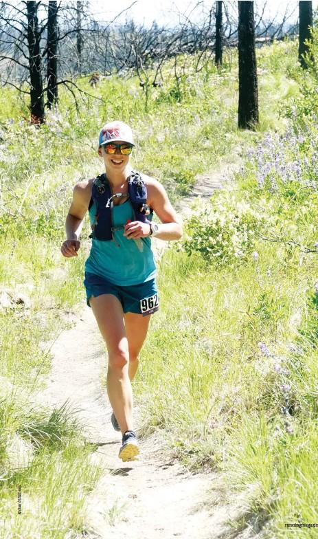 ??  ?? LEFT Penway racing the 2019 Evergreen Trail Run