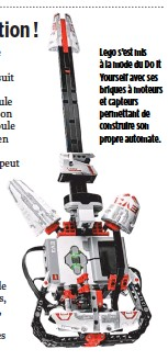 ??  ?? Lego s'est mis à la mode du Do It Yourself avec ses briques à moteurs et capteurs permettant de construire son propre automate. Jérémie Hodara,