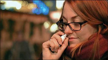 ??  ?? Le spray développé par Pharma & Beauty promet de réduire la charge virale des écoulements nasaux.