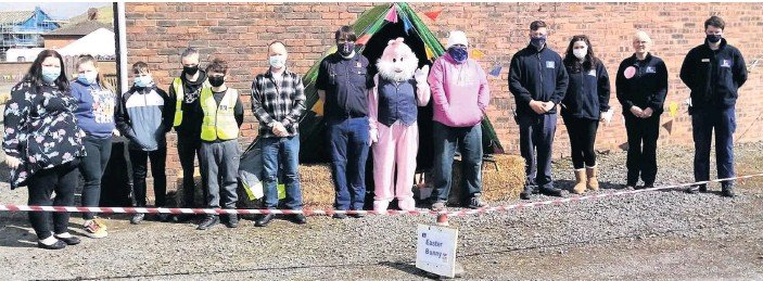 ??  ?? Easter fun Lockerbie's RH Youth Organisation gave the town plenty of Easter fun on Saturday with its activities and competitions at the Ice Rink car park, including the chance to see the Easter Bunny