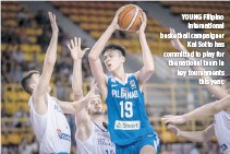?? FIBA ?? YOUNG Filipino international basketball campaigner Kai Sotto has committed to play for the national team in key tournaments this year.