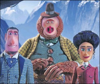 ?? Laika Studios/annapurna Pictures ?? The film features the voices of Hugh Jackman (Sir Lionel Frost, left), Zach Galifianakis (Mr. Link) and Zoe Saldana (Adelina Fortnight).