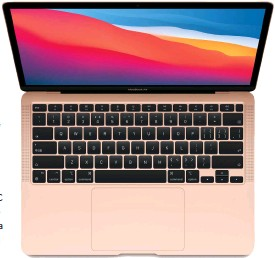 ??  ?? The Macbook Air is one of the fastest laptops around.