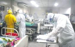 ??  ?? Al tope de su capacidad de internación se encuentra el Hospital Nacional de Itauguá. Los casos de covid-19 son mayoría.