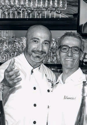 ??  ?? Maico Campilongo with the Apulian chef Krystian D'angelo