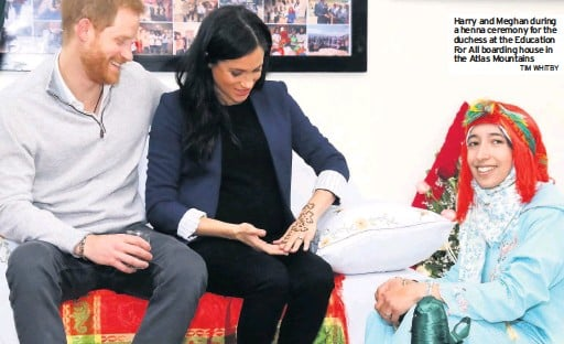 25223485d Henna tattoo for Meghan in Morocco. Burton Mail - 2019-02-25 - National -. THE  Duchess of Sussex has celebrated her pregnancy by getting ...