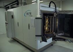 ??  ?? Nuova tecnologia L'impianto frutto della collaborazione INFN-Eurolls