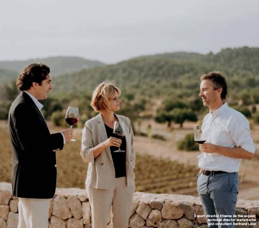 ??  ?? Export director Etienne de Rességuier, technical director Marie Barbé and consultant Bertrand Léon