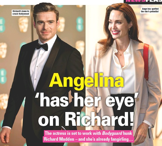 ??  ?? Richard's keen to crack Hollywood Ange has spotted the star's potential