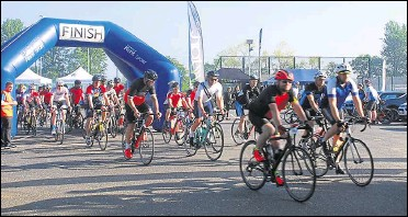 ??  ?? The last Pilgrims Hospice ride in 2019, a vital source of income for the charity