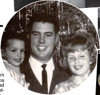 ??  ?? SECOND GUNMAN?: Security man Thane Eugene Cesar, above with his family, admitted firing his gun but he was not treated as a suspect by LAPD while Sirhan Sirhan, top, was arrested, convicted and sentenced to life in jail