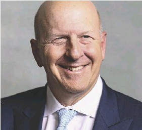 ??  ?? ENOUGH ALREADY! Goldman Sachs CEO David Solomon (below) wants his employees to work in person again.