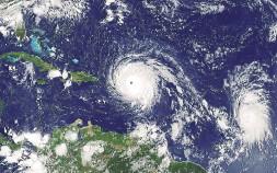 ?? NASA/GOES PROJECT/THE NEW YORK TIMES ?? Last season saw two Category 5 hurricanes, Irma and Maria. Hurricane Irma, shown above, reached 289 kilometres an hour.