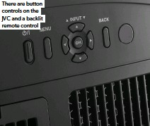 ??  ?? There are button controls on the JVC and a backlit remote control