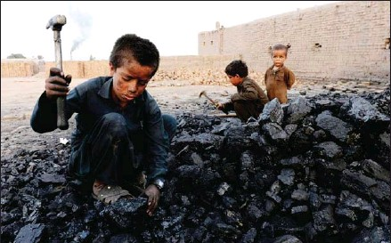 ?? AFP ?? UNICEF says the number in child labour stood at 160 million at the start of 2020 – an increase of 8.4 million in four years.