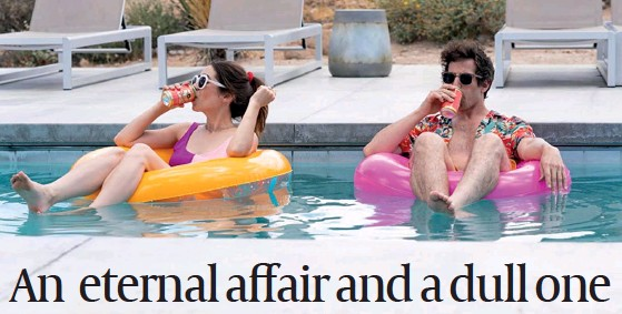 ?? PHOTO: AMAZON PRIME ?? Andy Samberg and Cristin Milioti in Palm Springs The Affair
