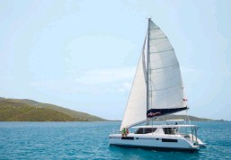 ??  ?? The popular four-cabin Moorings 4500 catamaran is available for charter in St. Thomas, US Virgin Islands.