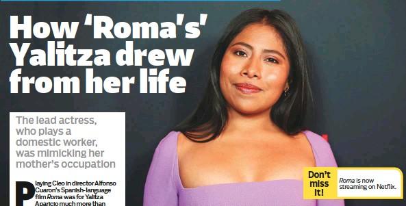 Pressreader Gulf News 2019 01 16 How Roma S Yalitza Drew From
