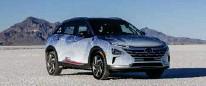 ??  ?? Hyundai Nexo kom á markað 2018 og setti heimsmet í hraða vetnisbíla í fyrra þegar hann náði 171 km hraða.
