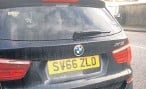 ??  ?? BMW X3 reg­is­tered SV66 ZLO