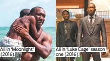 ??  ?? Ali in 'Moonlight' (2016). Ali in 'Luke Cage' season one (2016).