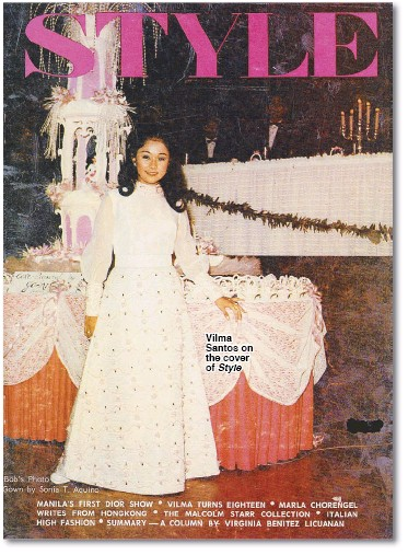 ??  ?? Vilma Santos on the cover of Style