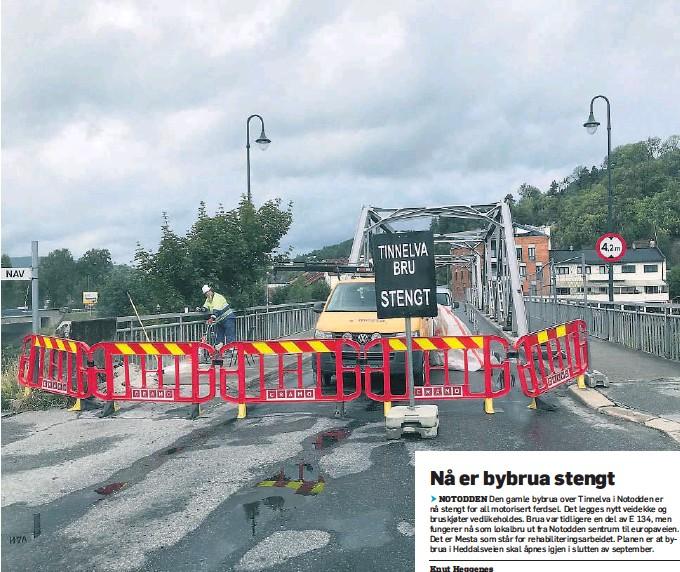 Pressreader Varden 2018 08 18 Na Er Bybrua Stengt
