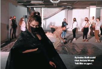 ??  ?? Sylvaine Strike said that Artists Week 'felt like oxygen'.
