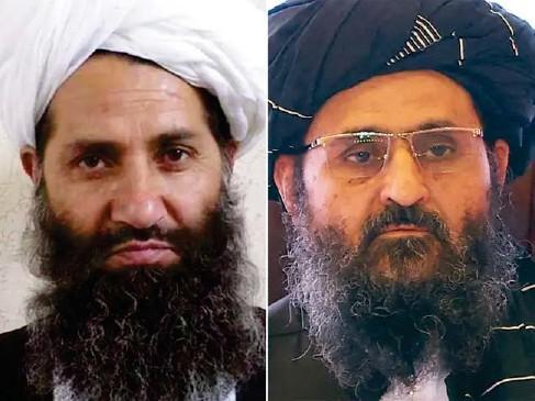 ?? (AFP/Getty) ?? Mullah Haibatullah Akhundzada and Mullah Abdul Ghani Baradar have disappeared