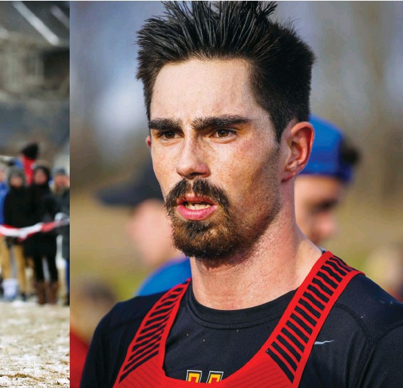??  ?? ABOVE Daniel cel­e­brates the win at the 2019 Canwest XC