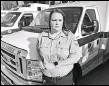 ?? GILLIAN FLACCUS / ASSOCIATED PRESS ?? Trisha Preston, a paramedic, stands Nov. 6 outside the headquarters of her employer, American Medical Response, in Portland, Ore. Preston was attacked in the back of her ambulance by a patient in a mental health crisis earlier this year.