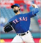 ?? Rick Yeatts/Getty Images ?? Cole Hamels is one of five active pitchers with at least five seasons of both 200 innings and 200 strikeouts.