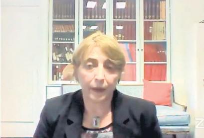 ?? Télam ?? Franchi dio su testimonio desde el Consulado argentino en París.