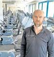 ?? FOTO:PRIVAT ?? Christian Möslein in seinem Fitnessstudio in Leipzig.