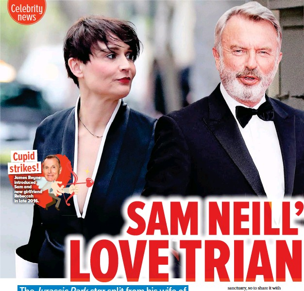 ??  ?? Cupid strikes! James Reyne introduced Sam and new girlfriend Rebeccah in late 2016.
