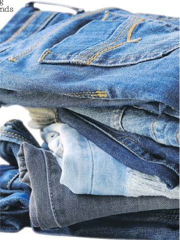 ??  ?? Levi's is one of the clothing companies that accepts used garments for recycling. Recycled denim is called Denimite.