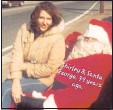 ?? CONTRIBUTED PHOTO ?? Back where it all began, Shirley with husband George Jackson as he makes one of his earliest debuts as Santa.