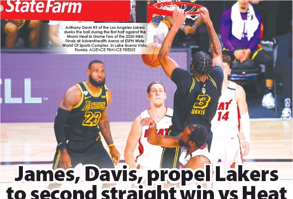 Pressreader The Freeman 2020 10 04 James Davis Propel Lakers To Second Straight Win Vs Heat