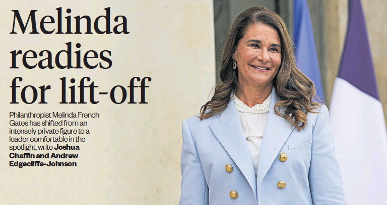 ?? Photos / AP ?? If the Gates Foundation falters, Melinda French gates will pursue her own philanthropy.