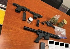 ?? (Pine Bluff Police) ?? Weapons and drugs were confiscated during a zero-tolerance operation against drag racing earlier this week.