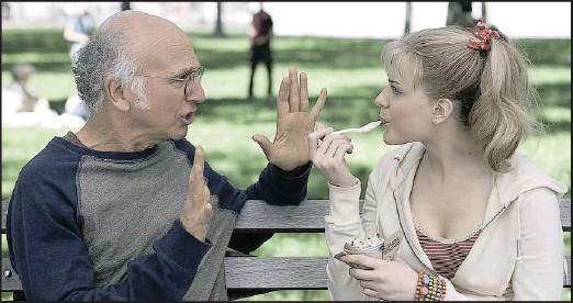 ??  ?? Larry David and Evan Rachel Wood in a scene from the film Whatever Works