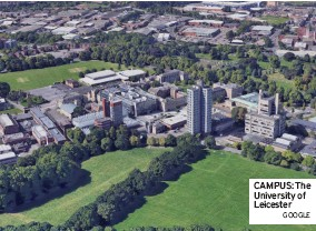 ?? GOOGLE ?? CAMPUS: The University of Leicester UNION OPPOSING JOB LOSSES